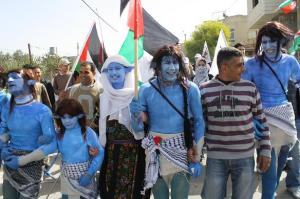 The village of Bil'in reenacted the science fiction film Avatar during one of its Friday demonstrations.